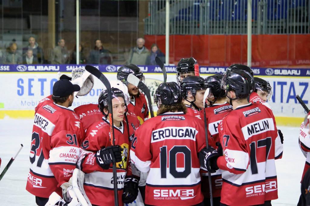 Les Pionniers de Chamonix se sont imposés 2-1 face aux alsaciens. Photo source: @www.facebook.com/PionniersChamonix