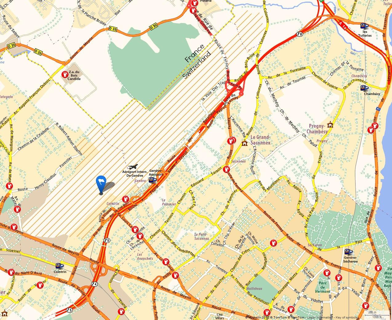 Geneva chamonix map