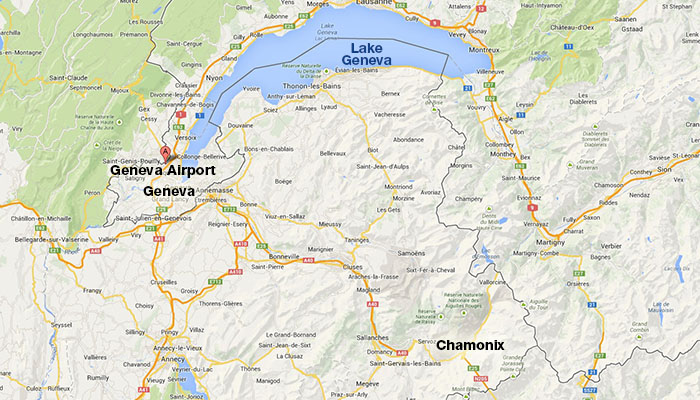 Map Of France Near Geneva.Geneva International Airport Travel Guide Geneva To Chamonix
