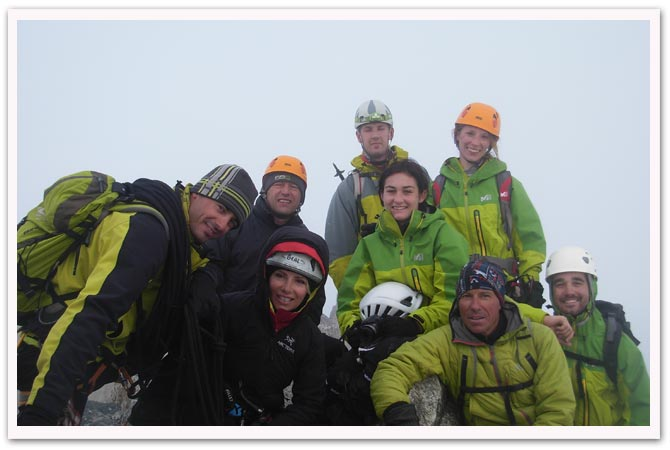 Philippe Chillet and his colleagues from Compagnie des Guides de Chamonix