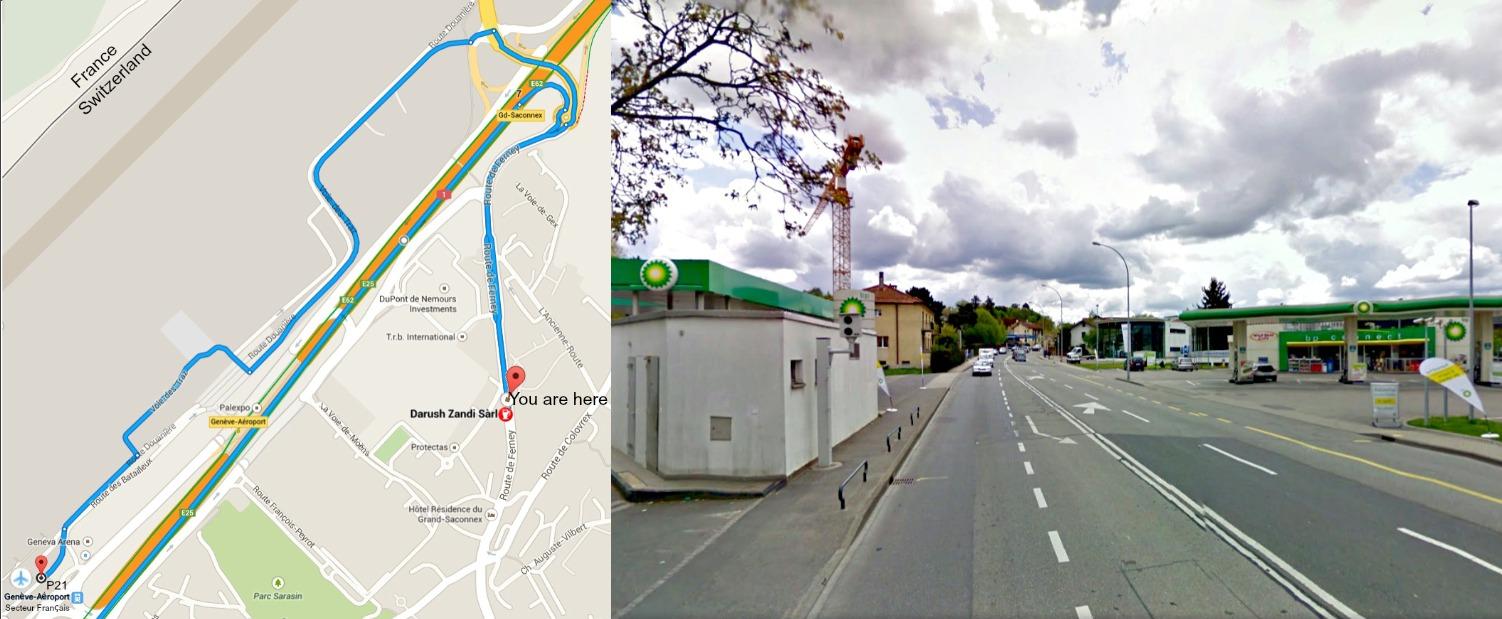 the service station along route de ferney
