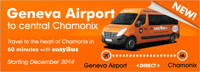easyBus shared transfers Geneva Airport and Chamonix line
