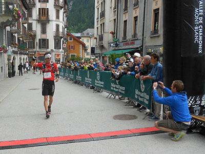 Bastien Fleury, jeune coureur de Chamonix, 5ème place 80 km du Mont-Blanc