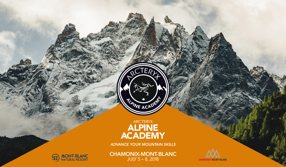 2018 Arc'teryx Alpine Academy - poster in english