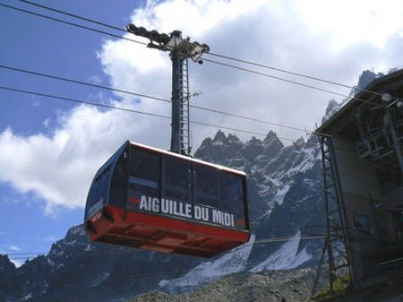 Cable car in Aiguille
