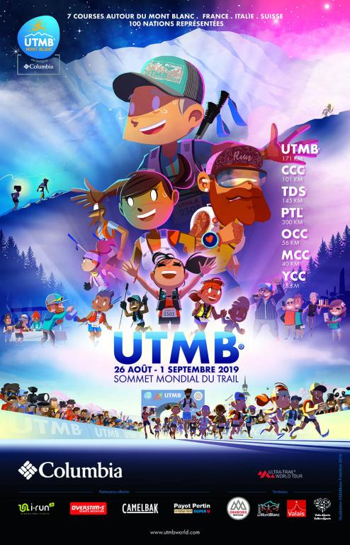 UTMB® 2019 poster, created by Matthieu Forichon, found on @utmbmontblanc.com