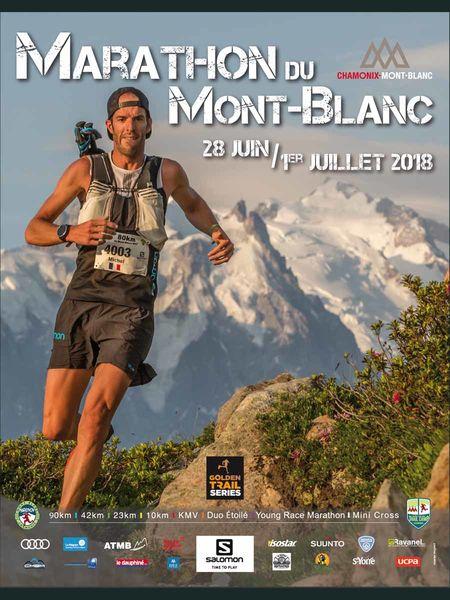 Affiche du Marathon du Mont-Blanc 2018. Photo source: @chamonix.com