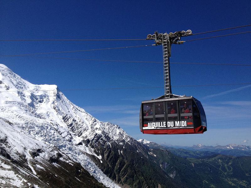 Aiguille du Midi cable car, between Chamonix and Aiguille du Midi at 3842m