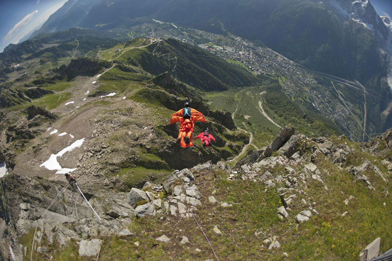 Base Jump & Wingsuits in Chamonix