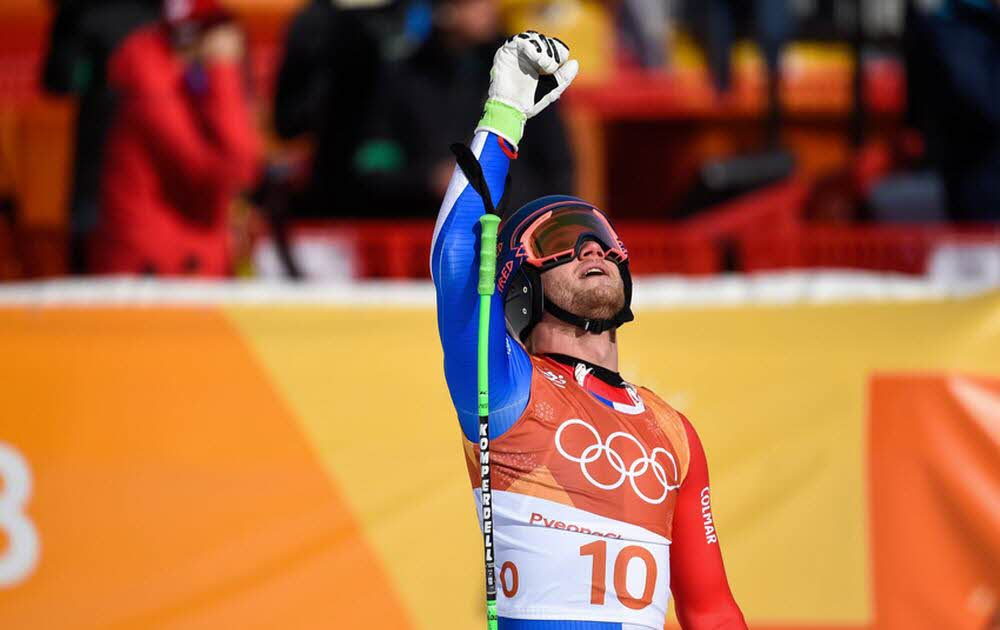 2018 Olympics - Alpine Skiing: Blaise Giezendanner, ranked 4th in super-G. Photo source: @www.ledauphine.com