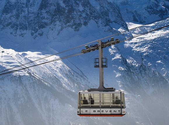 Brévent cable car in Chamonix
