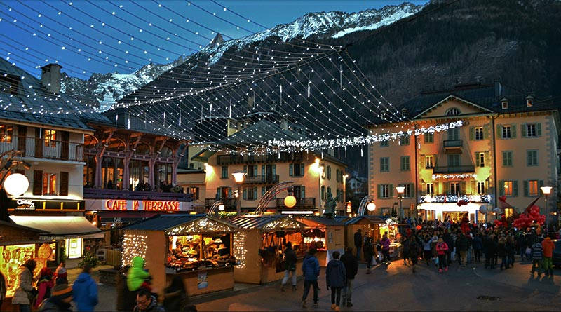 Chamonix during Christmas
