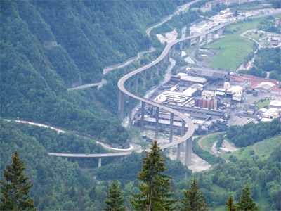 Egratz Viaduct going up towards Chamonix