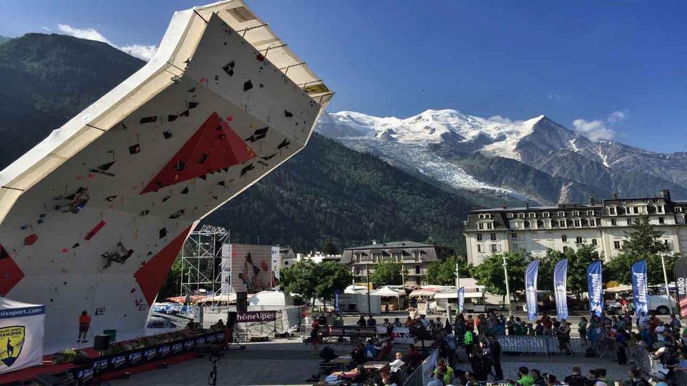Climbing World Cup in Chamonix 2018.Photo source:@pressnut.com