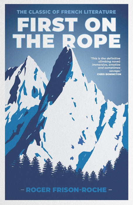 First on the rope, book cover, published by Vertebrate Publishing