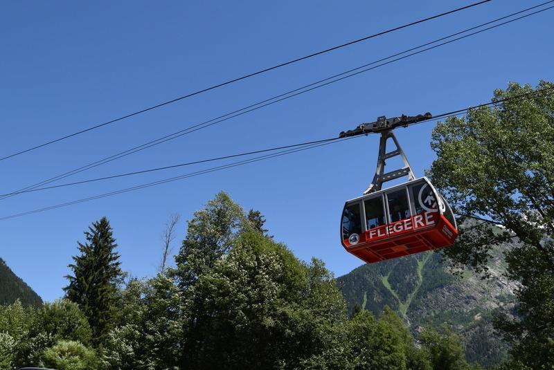 Projet de remplacement du téléphérique de la Flégère par une télécabine. Source de la photo: @ forum.stationsdeski.net