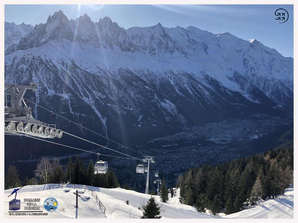 The new Flegere gondola, photo source @www.facebook.com/telepheriquedelaflegere
