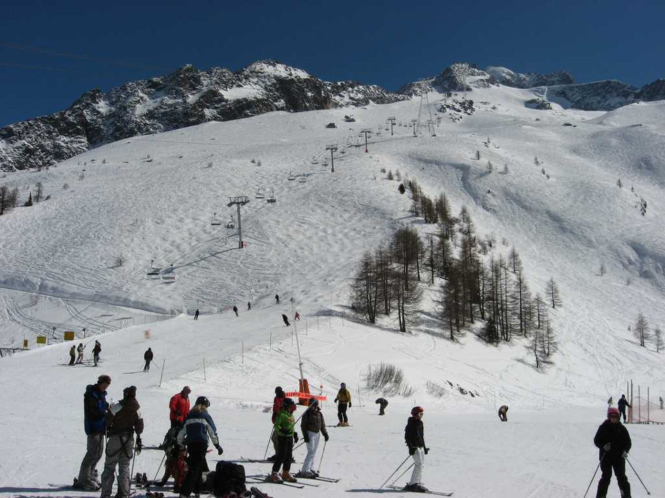 View of the Grands Montets Ski Resort in Chamonix
