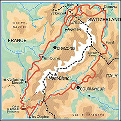 chamonix valley map and information