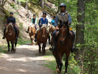 Horse riding in the Chamonix Mont-Blanc Valley