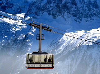 Chamonix Winter Ski Lifts