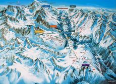 Chamonix Valley Ski Resorts Map