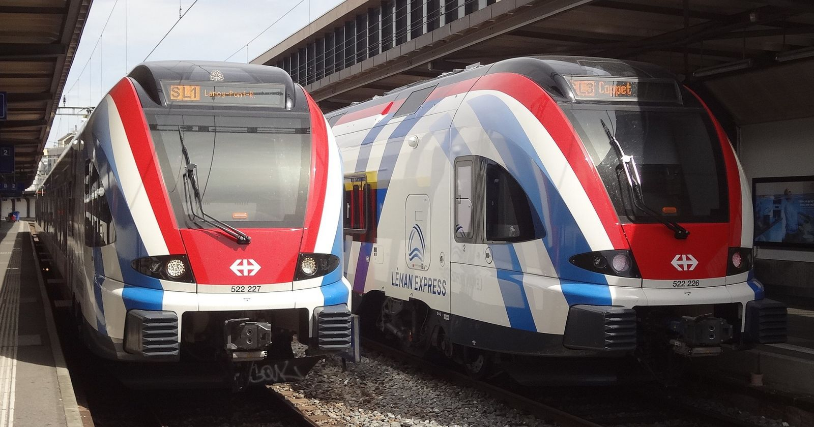 The new Léman Express railway network will easily and quickly connect France to Switzerland. photo source @wikipedia.org