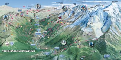 Chamonix Valley Summer Map
