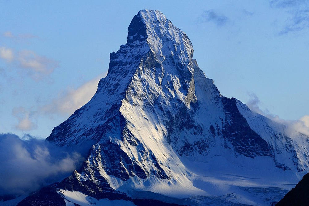 Two people died on July 29th, 2019, when a rock pillar broke away in the Matterhorn mountain, in the Swiss Alps. Photo by Chil, licensed under CC BY-SA 3.0, photo source @wikimedia.org