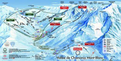 Vallée de Chamonix Carte D'hiver