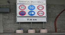 Mont Blanc Tunnel sign