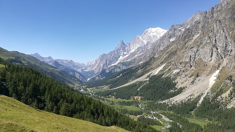 Mont-Blanc seen from the Val Ferret