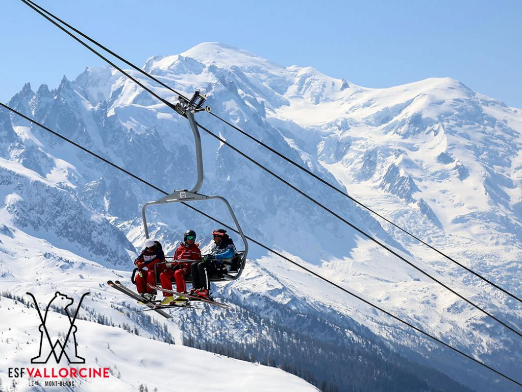 Ski Lift Le Tour Balme Vallorcine ski area in Chamonix