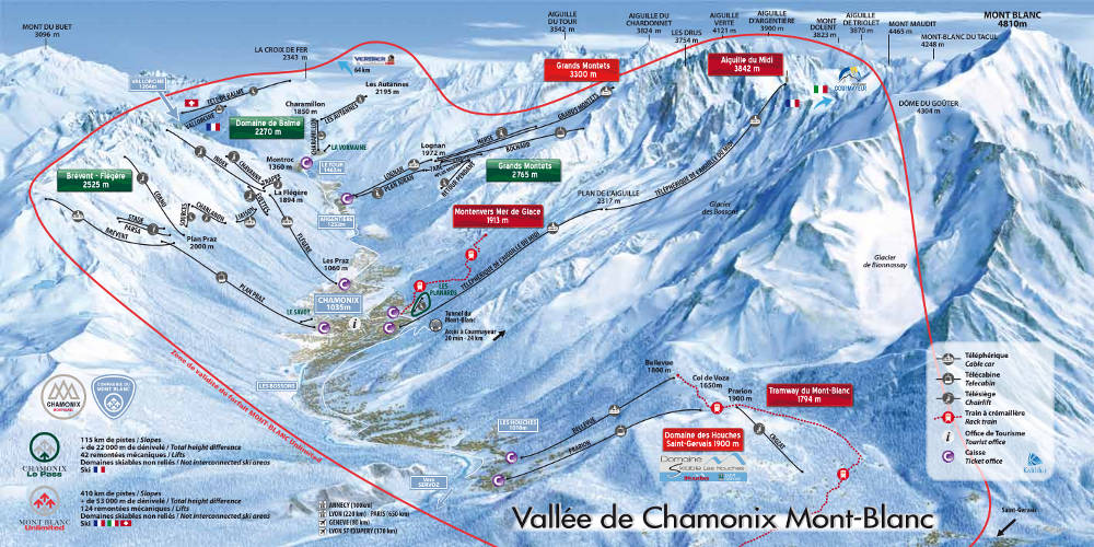 Mont-Blanc Unlimited, Area of validity