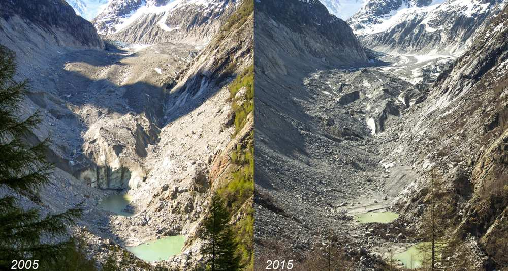 Global warming mer de glace lost more than 3 metres in - Saint de glace 2018 ...