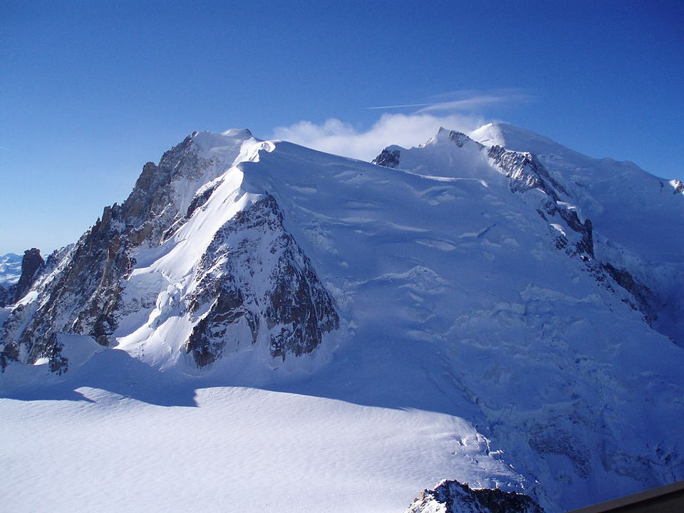 Mont Blanc du Tacul, author Duncan McGoldrick, licensed under CC BY-SA 2.0, photo source @commons.wikimedia.org