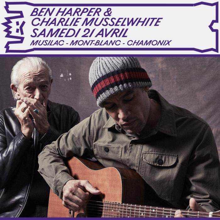 Ben Harper & Charlie Musselwhite seront sur scène du Musilac Mont-BLanc pour une seule date: le samedi 21 avril 2018! Photo source: @mont-blanc.musilac.com