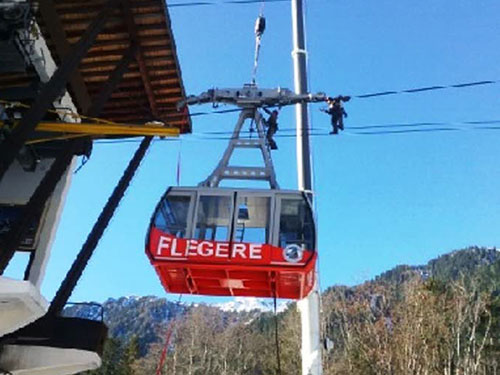 Nouvelles cabines pour le téléphérique de la Flégère
