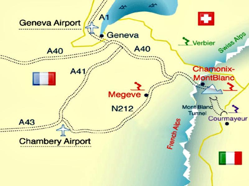 Map Of France Near Geneva.Geneva To Chamonix By Train Bus Car Chamonix Net