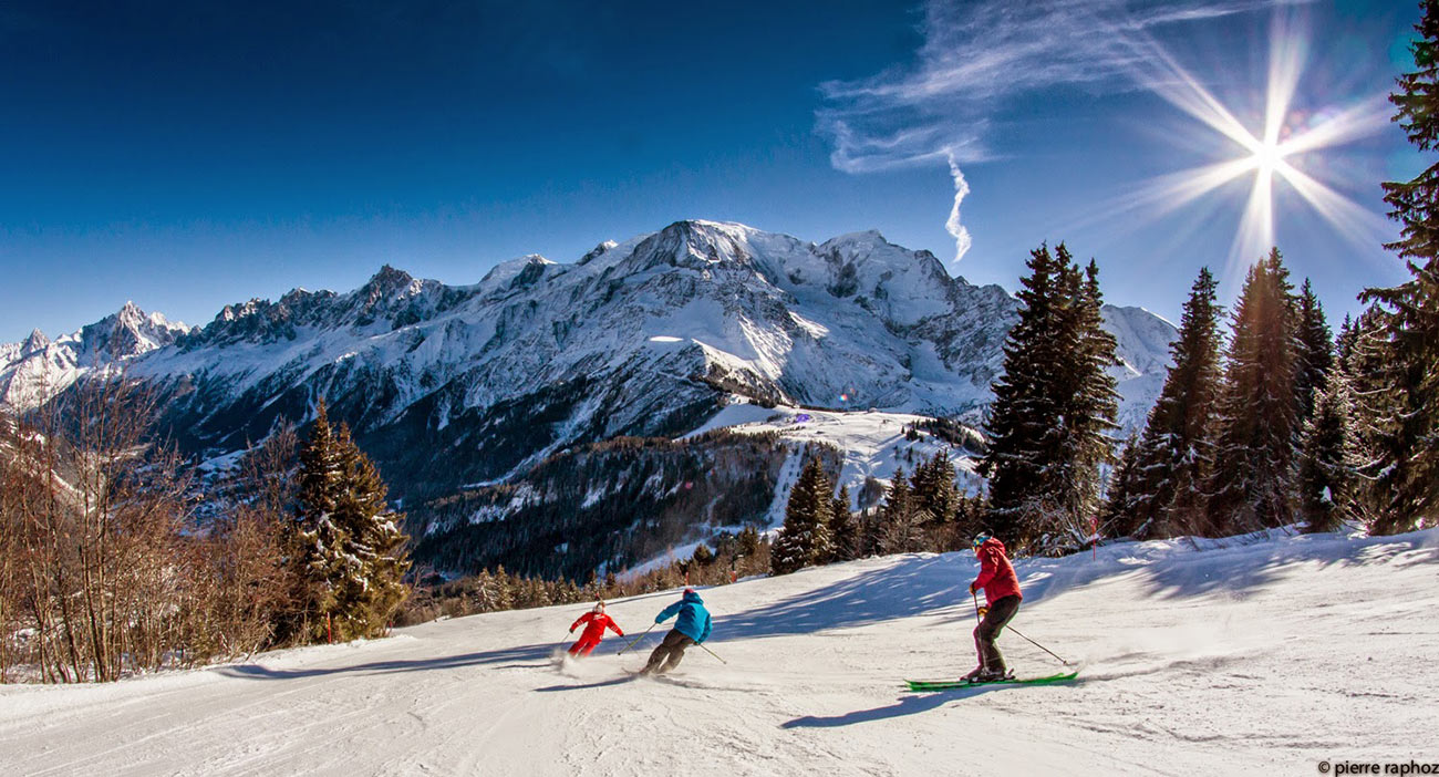 Les Houches Slopes Ski Resort Information Chamonix Valley