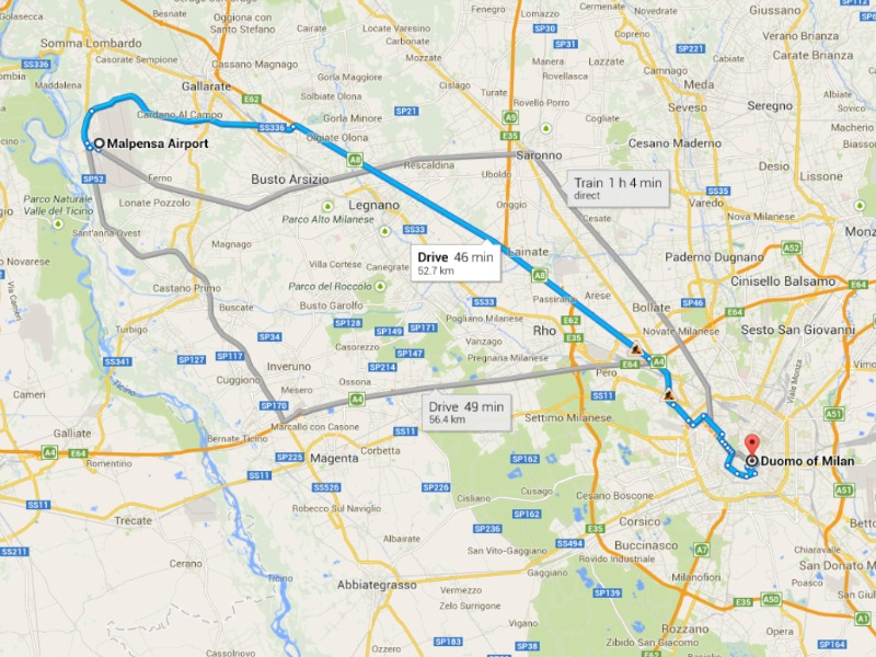 How to get from Milan Airports to the City Centre Chamonixnet