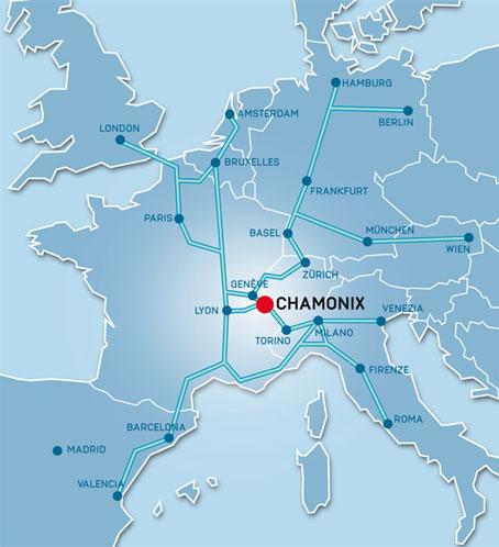 Chamonix Valley Maps Road Maps in Chamonix Mountain Maps