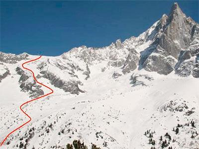 Pas de Chevre Couloir Chamonix Mont Blanc