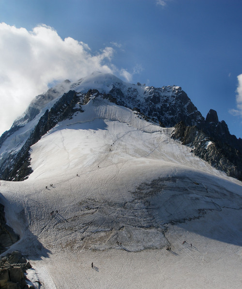 Petite Aiguille Verte from Aiguille des Grands Monets. Photo source www.summitpost.org