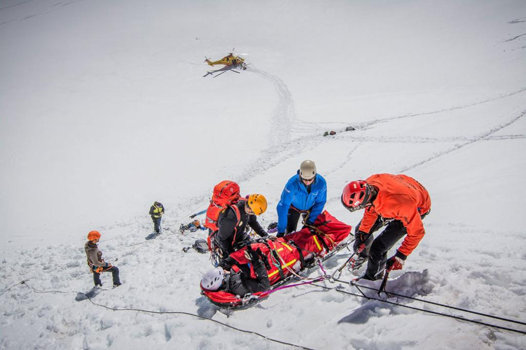 8 rescues for the PGHM Chamonix