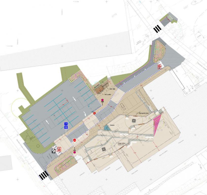 Map of place des Seracs. Photo source: @chamonix.fr