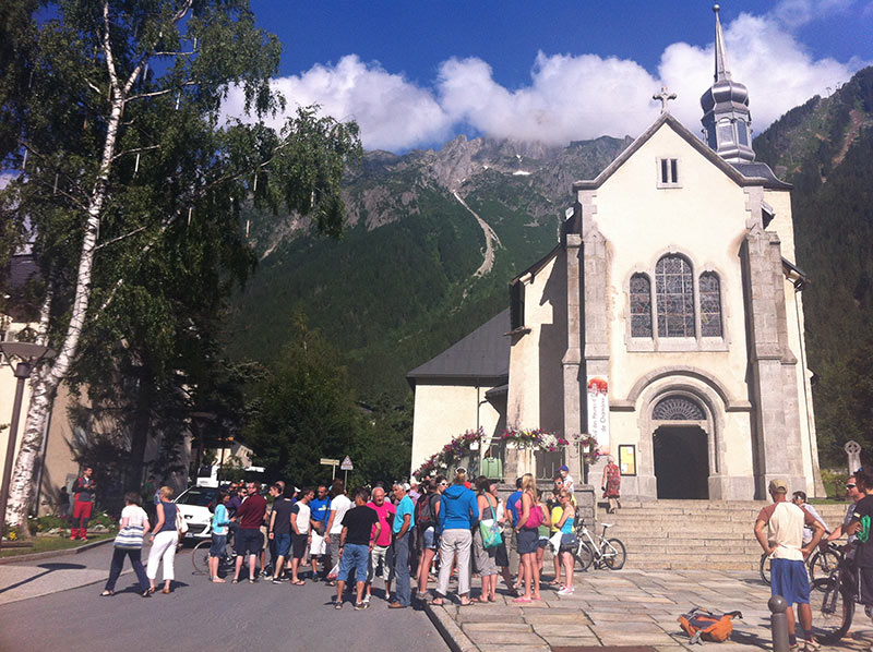 Lots of people this morning at Chamonix Church