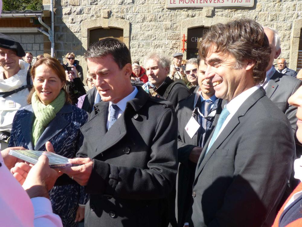 Manuel Valls et Eric Fournier