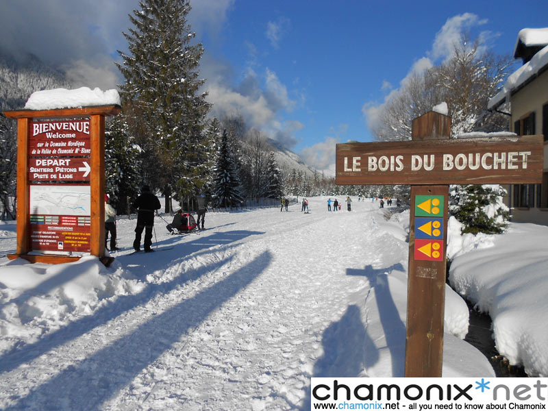 Cross-country ski trails in Chamonix Mont Blanc
