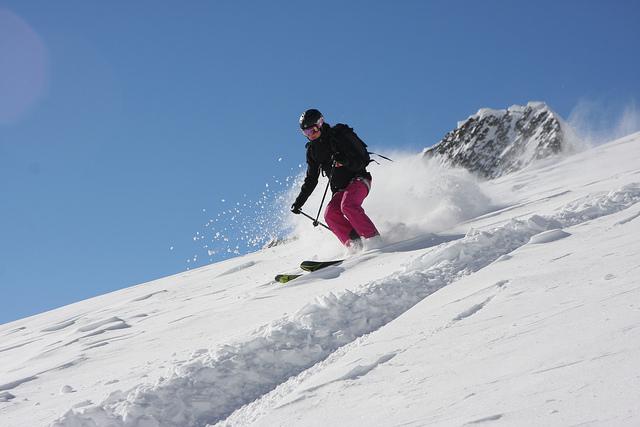 skiing on Mont Blanc, Chamonix